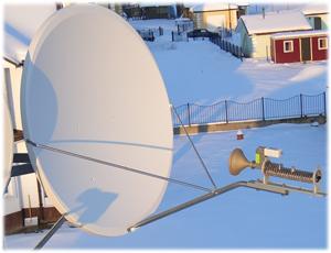 настройка спутникового интернета газпром